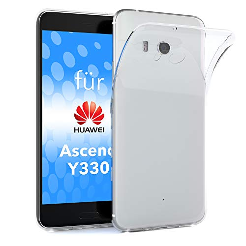 EAZY CASE Hülle kompatibel mit Huawei Ascend Y330 Schutzhülle Silikon, Ultra dünn, Slimcover, Handyhülle, Silikonhülle, Backcover, Durchsichtig, Klar Transparent