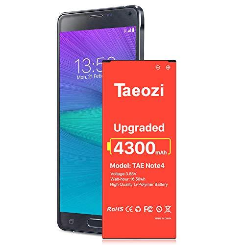 TQTHL Note 4 Battery, New 4300mAh Li-ion Replacement Battery for Samsung Galaxy Note 4 N910 N910F N910U...