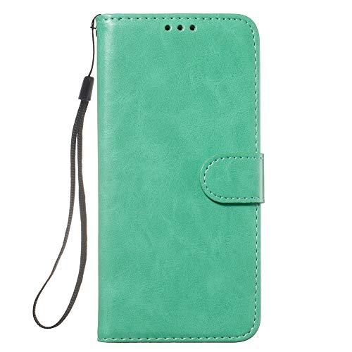 HUAI Funda de piel tipo libro para iPhone 11 para Pro Max5 5S SE 6 6S 7 8 Plus X XS MAX XR funda de teléfono con ranuras para tarjetas (color: CSFMW verde, material: para iPhone 7 (8))