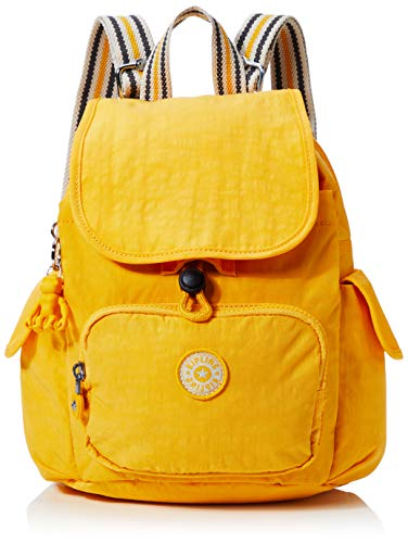 Kipling Damen City Pack Mini Rucksack, Gelb (Vivid Yellow), 27x29x14 Centimeters