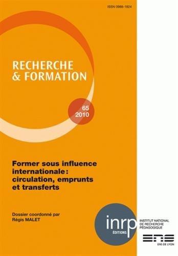 Recherche et formation, n  065/2011. former sous l'influence