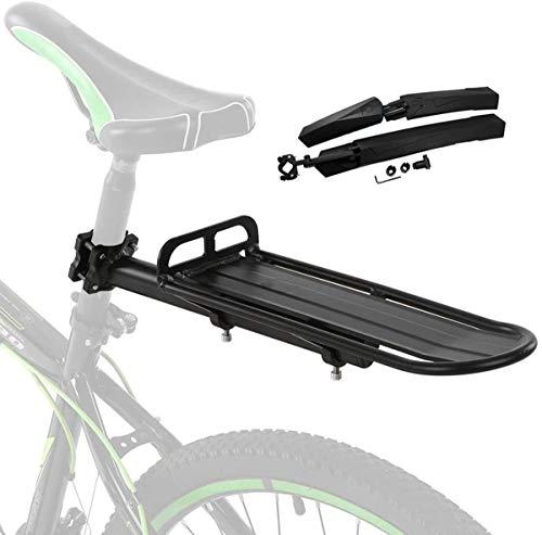 Portaequipajes Bicicletas,portaequipajes Retráctil De Aleación De Aluminio para Bicicletas,con Guardabarros,instalación Sencilla,soporta hasta 10 Kg De Carga