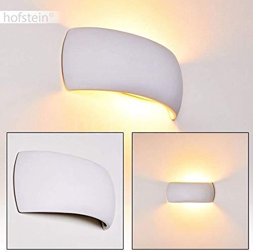Aplique de cerámica Scandicci en blanco - lámpara de pared futurista