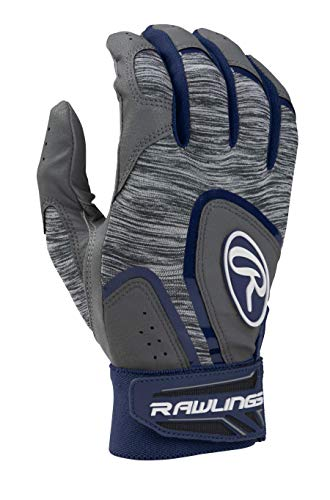 Rawlings 5150WBG-W-91 Rawlngs 5150 Batting Gloves, Navy/Grey, Large