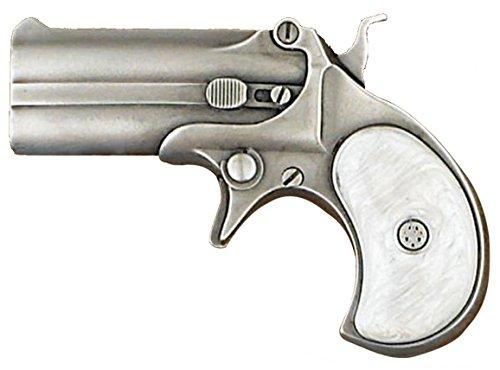Buckle Rage Adult Unisex Derringer Handgun Pistol Gun Revolver Belt Buckle (Off-White)