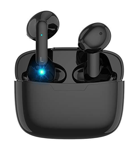 Auriculares Bluetooth 5.0, Auriculares inalámbricos intrauditivos, Caja de Carga LED incorporada,...