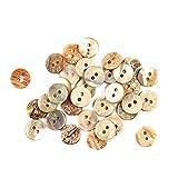 TL TONGLING Conchas 10 unids 10 mm Abalones Naturales Botones de Costura Embellecos para Tela Madre de Perla Ronda de 2 Agujeros Botón