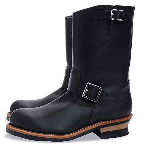 Red Wing Shoes 2268-D Black Chrome Engineer Steel Toe (40, Black Chrome)