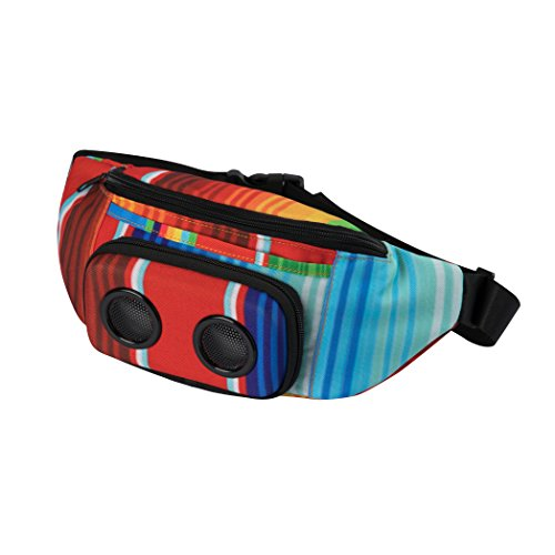 The #1 Fannypack with Speakers. Bluetooth Fanny Pack for Parties/Festivals/Raves/Beach/Boats. Rechargeable, Works with iPhone & Android. #1 Bachelorette Party Gift (Rainbow, 2019 Edition)