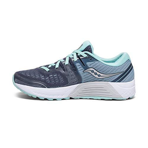 Saucony Women's Guide ISO 2 Running Shoe, Slate/Aqua, 5 M US