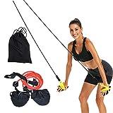 WINBST Attrezzatura per l'allenamento Dry Land Cord Tirante per Nuoto con Fune, Fascia di Resistenza e pagaie per l'allenamento del Braccio, l'allenamento della Forza