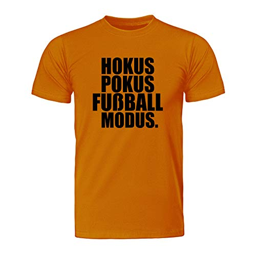 Hokus ID107048 T-shirt de football pour homme - Orange - XX-Large
