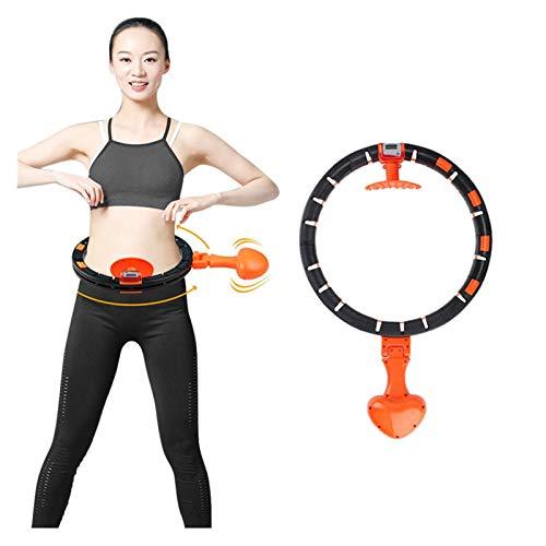 CYSHAKE Hula-Hoop Hula-Reifen-Sport-Fitness-Ring-Nummer abnehmbare Ringnummer fällt Nicht Fallen Bauchmuskeln Trainer Yoga Home Fitness Trainer Gewichtsverlust Ring Gewichteter Fitness-Hula-Hoop