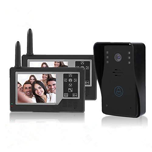 Garsent Video Türsprechanlage Gegensprechanlage, 3.5 Zoll LCD Monitor WiFi Video Intercom Türklingel mit Nachtsicht Kamera für 1/2 Familienhaus(2 Monitor)
