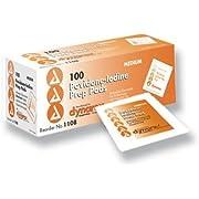 Complete Medical 972 Povidone Iodine Prep pads - Box of 100