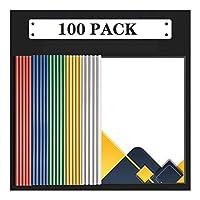 ビジネスクリップボード レポートカバー|プレゼンテーションフォルダ(20/50/100個)|クリアバインダー|クリアフロント報告書は、バーをスライドして紙プランをクリアバインダープラスチックファイルフォルダをカバー 事務用品 (Color : C)