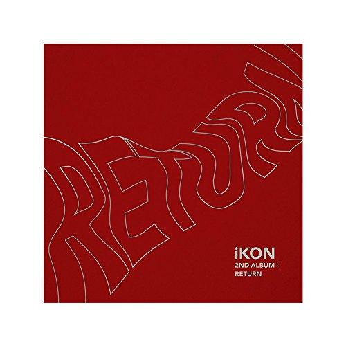 iKON 2nd Album: Return CD + PHOTOBOOK + Lyric Book + 8 Postcards + Photocard + Selfie Photocard + Photo Film + Sticker + Poster RED Ver.
