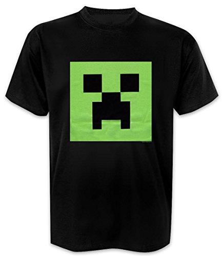 Close Up T-Shirt Minecraft Creeper Glow in The Dark (XL)
