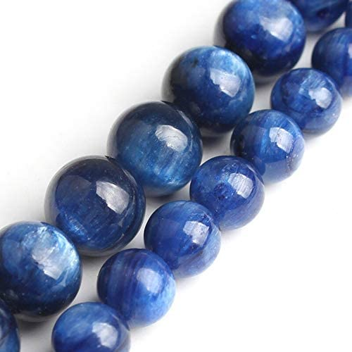Natural Stone Beads Blue Overseas parallel import NEW before selling ☆ regular item Kyanite Genuine Loose for J Round