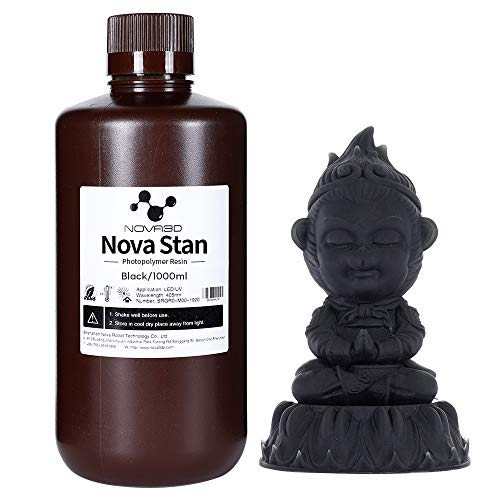 NOVA3D LCD UV Resin 405nm Rapid Resin for 3D Printer Photopolymer Resin Black 1000g