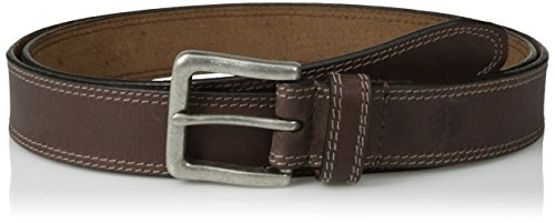 Timberland Men's Classic Leather Jean Belt 1.4 Inches Wide (Big & Tall Sizes Available), Dark Brown (Stitched), 32