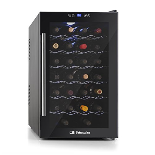 Orbegozo VT 3010 – Vinoteca 28 botellas, 80 litros de capacidad, temperatura regulable, panel táctl, display digital, luz LED, dual-zone, 130 W