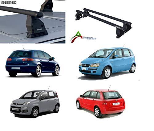 AUTOFORNITURE ITALIA Barras portaequipajes de Techo para Coche sin railings, Sistema de Montaje Fix Point con Barras + Kit de fijación específico para Coche