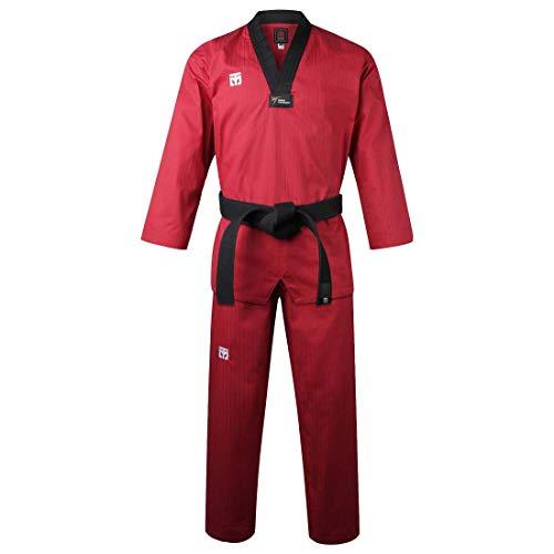 of martial arts uniforms MOOTO Korea Taekwondo BS4.5 Three Colors Uniform (Black,Red,Blue) MMA Martial Arts Karate Hapkido Team Demonstration Gym School Academy