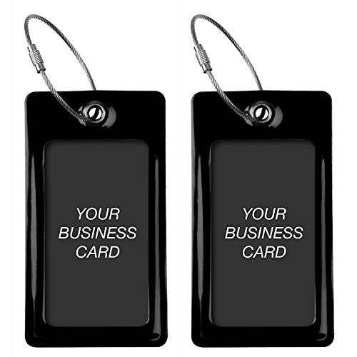 Luggage Tags TUFFTAAG for Business Cards, Flexible Suitcase Labels, Travel Gifts
