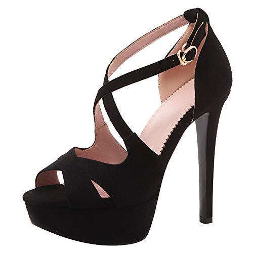 BeiaMina Mujer Zapatos Moda Tacón Pequeno Sandalias Plataforma Fiesta Zapatos Tacón Altos...