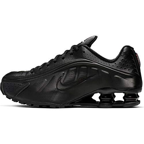 Nike Shox R4, Zapatillas de Atletismo Mujer, Multicolor (Black/Black/Black/MAX Orange 000), 36.5 EU