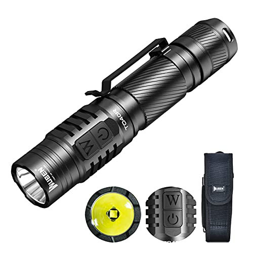 Rechargeable LED Torch, WUBEN TO40R Super Bright 1200 Lumens Powerful Pocket Torches, Tactical Waterproof Flashlight for Camping