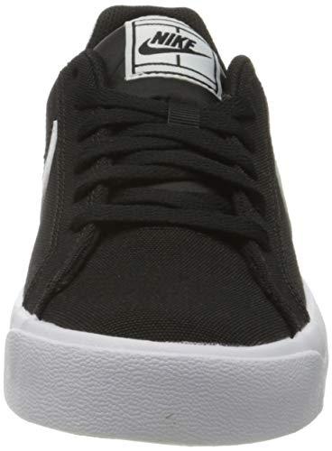 Nike Court Royale AC Canvas, Zapatillas Mujer, Negro/Blanco, 38.5 EU