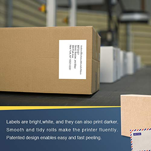 """BETCKEY - Compatible DK-2243 Continuous 4"""" x 100' Replacement Labels,Compatible with Brother QL Label Printers [1 Rolls with Refillable Cartridge Frame]"""