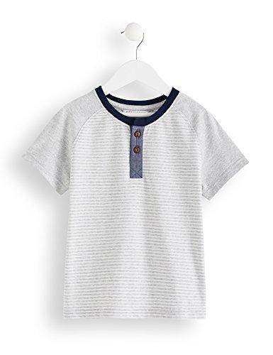 Amazon-Marke: RED WAGON Jungen T-Shirt mit Streifenmuster, Grau (Grey), 110, Label:5 Years