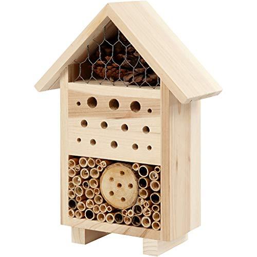 Hotel à insectes, h: 26,1 cm, l: 18,4 cm, pin, 1pièce, prof. 9,2 cm