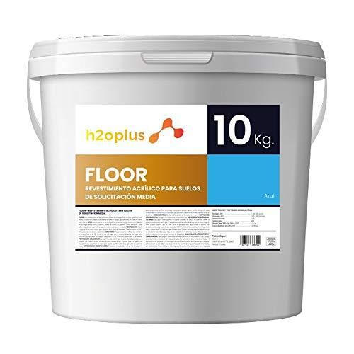 Betonfarbe Garagenboden Für Innen und Außen · Floor Blau 10kg · Bondenfarbe Garage und Parkplatz (Lösungsmittelfrei) · Beton, Asphalt und Fliesenfarben · Garagenfarbe Bodenbeschichtung rutschfest