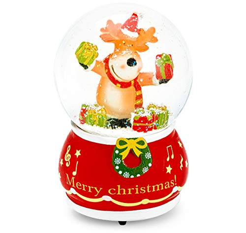 Mousehouse Gifts Rudolph The Red Nose Reindeer Musical Snowglobe (Dims: 10cm x 10cm x 15.5cm)