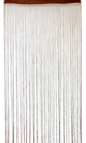 Deichflausen Fadenstore, 100 x 200 cm, braun mit Perlen, Fadengardine, Fadenvorhang, Raumteiler, Gardinen
