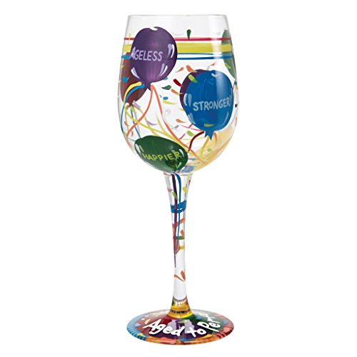 Lolita Aged to Perfection Hand Painted Wine Glass