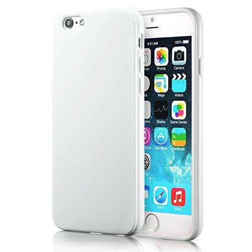 beauté d'étuis Custodia iPhone 6 Plus Cover Silicone Sottile Morbido TPU Custodie Protettivo Gel Cover per iPhone 6S Plus / 6 Plus 5.5'(Bianco)