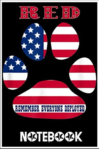 Notebook: RED Friday Military Service Dogs T- Veteran Gift Idea notebook 100 pages 6x9 inch by Kiachu lachu