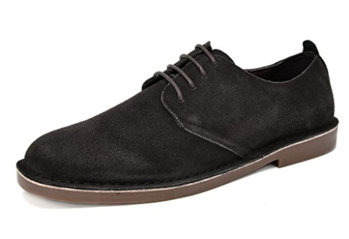 Bruno Marc Men's Brown Oxford Shoes Suede Leather Dress Shoes Francisco-Low - 11 M US