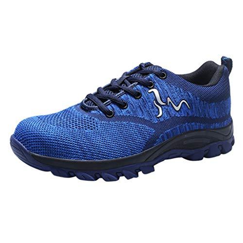 REALIKE Herren Arbeitsschuhe Sicherheitsschuhe Sneaker Sportschuhe Ultraleichte Laufschuhe Freizeitschuhe Atmungsaktiv Leicht Sportlich Geeignet für drinnen und draußen Bergsteigen Lauftraining