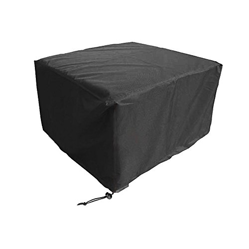 WOMACO Heavy Duty Square Patio Fire Pit/Table Cover, Waterproof Outdoor Furniture Cover (48