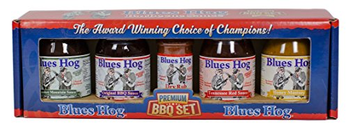 Blues Hog Premium BBQ Large Sampler (Variety Pack of 5 with 4 Different Sauces and 1 Rub)
