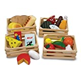 Melissa & Doug Food Groups - Wooden Play Food, The Original (Pretend Play, 21 Hand-Painted Wooden...