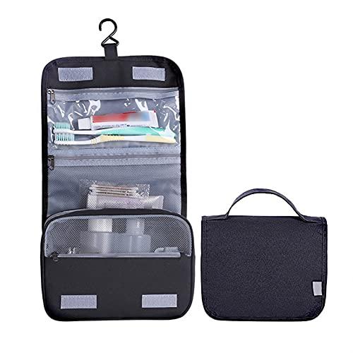 Bolsa De Aseo para Hombres Organizador De Baño Colgante Bolsas De Aseo Neceser De Viaje Portátil para Maquillaje (Color : Black, Size : 22x9x18cm)