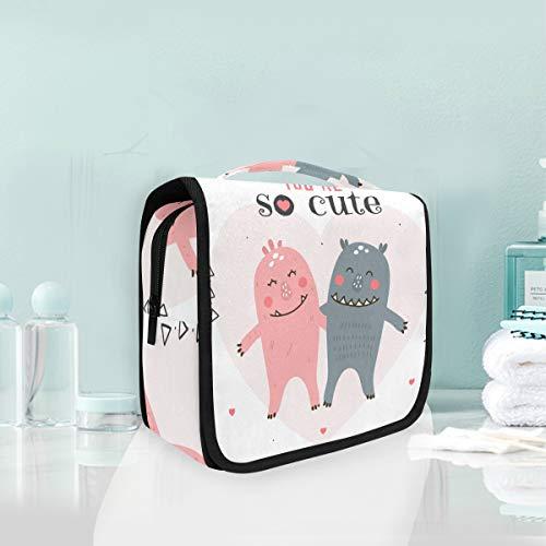 You are So Cute Cartoon Sac de toilette multifonction à suspendre pour femme fille Sac de maquillage Portable Sac de rangement