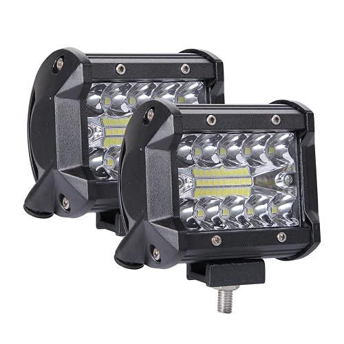 lxxiulirzeu 60W 4in Coche LED LED Luz de luz Lámpara de conducción para Offroad Boat Tractor Tructor 4x4 SUV Fog Light 12V 24V Faro para la Barra LED ATV (Color : 2PCS)